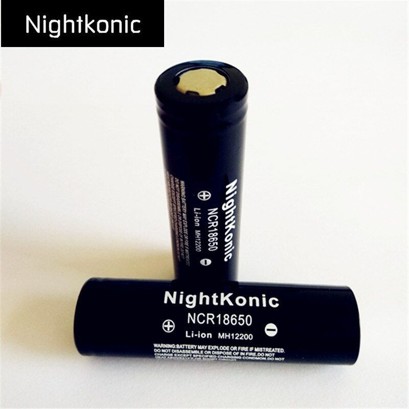 D'origine Nightkonic 6 PCS/LOT 2000 mAh 18650 Batterie 3.7 V Li-ion Rechargeable Batterie NOIR