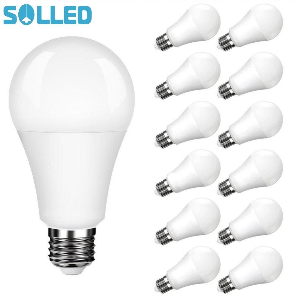 SOLLED LITAKE 12 Emballé A19 E26 E27 Base de L'ampoule LED Non dimmable Blanc Lumière Du Jour 5000 K 100 Watt Équivalent 11 W CRI 80