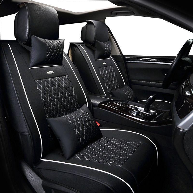Neue PU Leder Auto Universal (front + back) auto Sitzbezüge für Renault Kangoo Kaptur Koleos Laguna 2 Latitude Logan saab 93 95