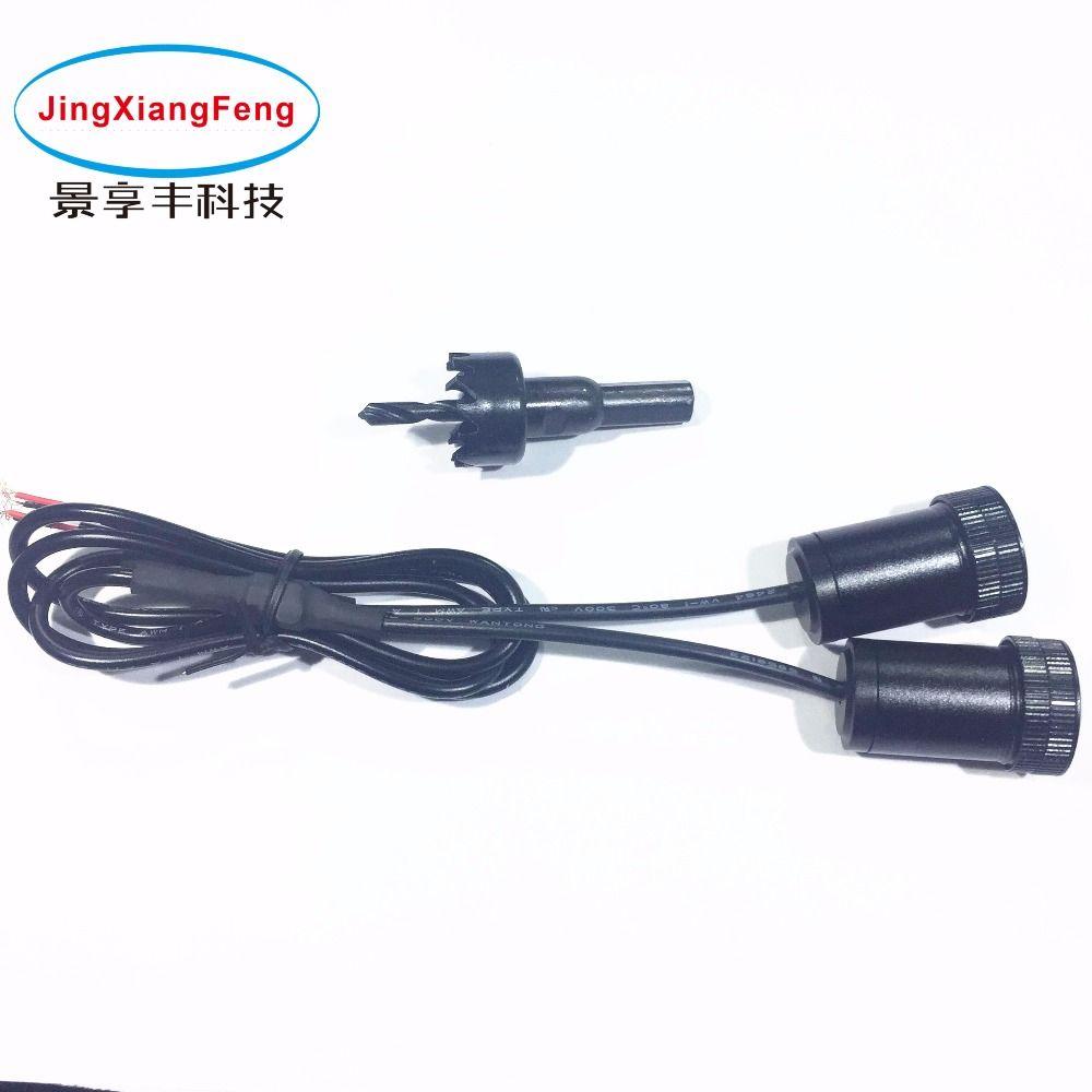Jingxiangfeng caso para Mitsubishi 12 V 5 W LED sombra del fantasma del coche decorativa Accesorios emblema Bienvenido puerta Luz 3D
