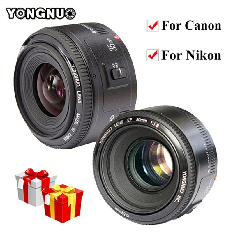 YONGNUO 35mm YN35mm F2.0 AF/MF Fixed Focus Lens F1.8 AF/EF Lens for Nikon F Mount D3200 D3400 D3100 D5300 for DLSR Camera Canon