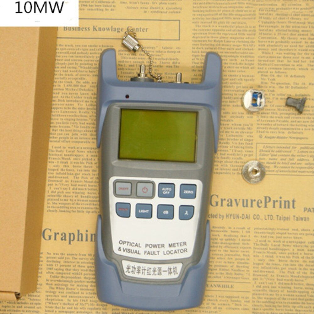 All-IN-ONE Fiber optical power meter -70 to +10dBm And 10mw 10km Fiber Optic Cable Tester  Visual Fault Locator Laser Pen Tester