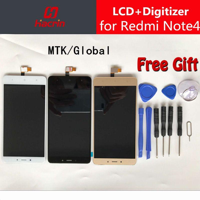 Xiaomi Redmi Note 4 LCD Affichage à L'écran Tactile Digitizer Assemblée Remplacement Pour Redmi Note 4 Pro Premier Global Version