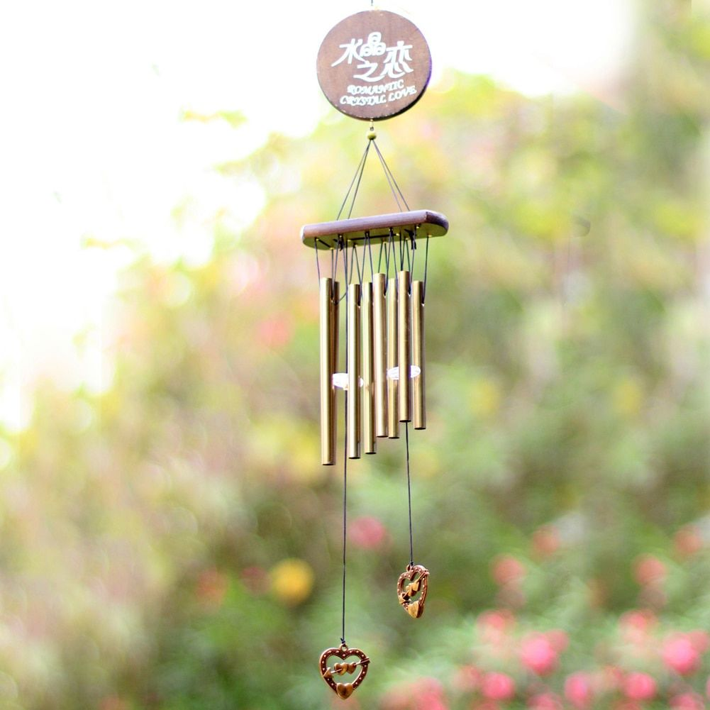 Kristall Liebe Windspiele Maskottchen Glück Leben Im Freien Yard Garten Rohre Glocken Kupfer Geburtstagsgeschenk Wohnkultur Ornament Handwerk
