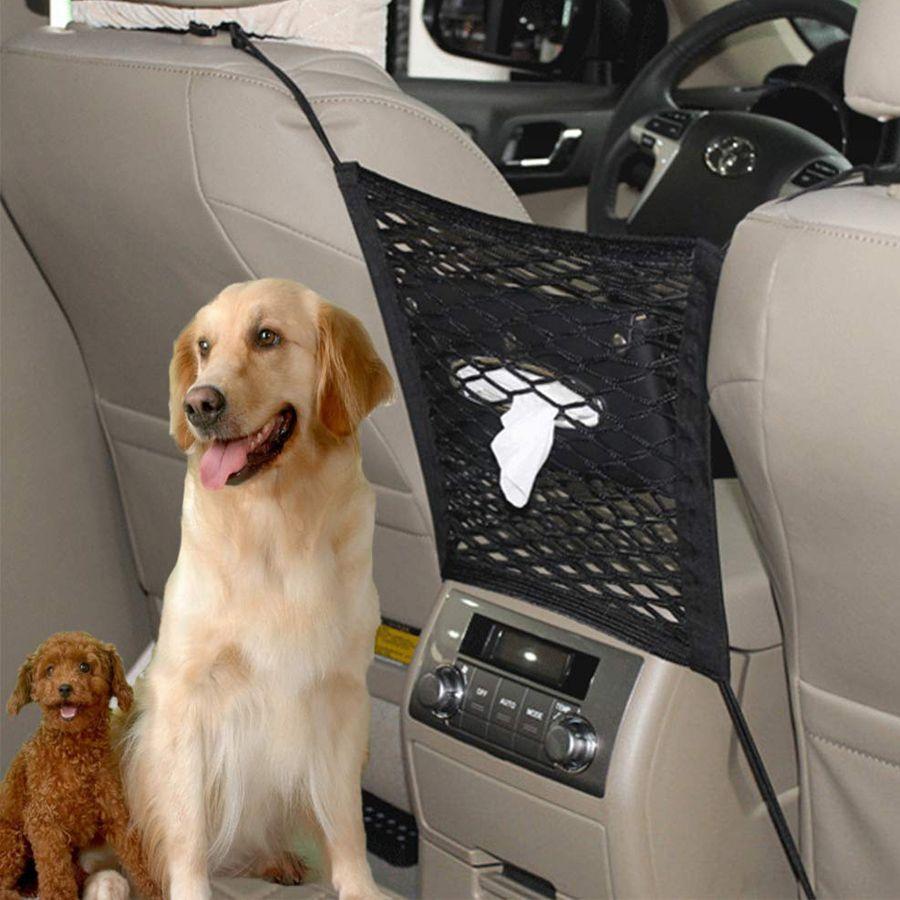 La plus nouvelle barrière de voiture avec le stockage Anti-collision maille enfant le siège arrière grille voiture sacs de rangement voiture sécurité élastique Pet protection