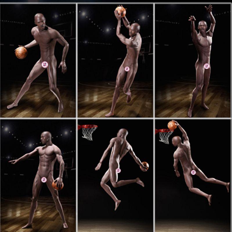 TBLeague M36B/PL2018-M36B 1/6 Schwarz Shin Spieler Basketball Super-Flexible Männlich Nahtlose Körper PHICEN M36/PL2018-M36