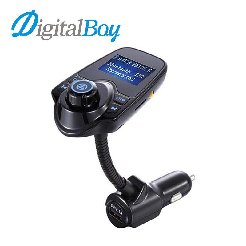 Digitalboy Handsfree FM Transmitter Car MP3 Player Kit Wireless Bluetooth Music Player LCD Display USB for iPhone Samsung