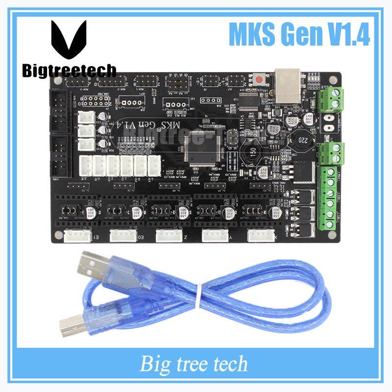 Dernières 3D imprimante MKS Gen V1.4 contrôle conseil Mega 2560 R3 carte mère RepRap Ramps1.4 compatible, avec USB