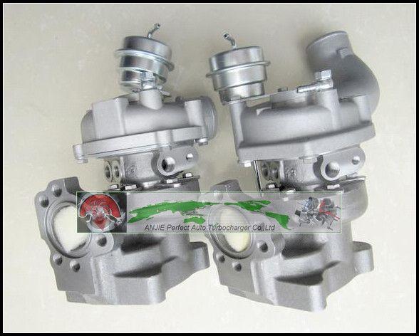 Free Ship Twin Turbo For AUDI RS4 Quattro ASJ AZR V6 2.7L K04-025 K04-026 25+26 53049880025 53049880026 53049700025 53049700026