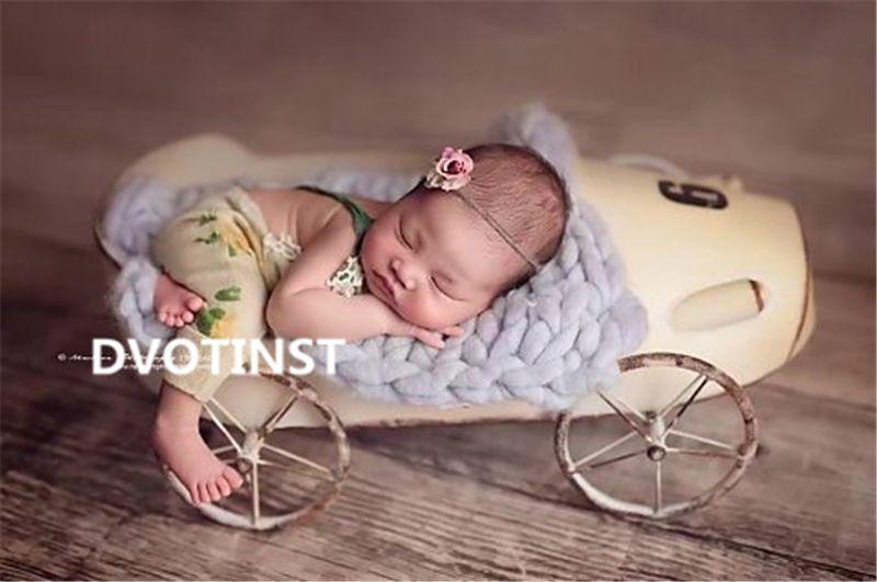 Dvotinst Newborn Baby Photography Props Iron Posing Racing Car Truck Fotografia Accessories Infant Studio Shooting Photo Prop