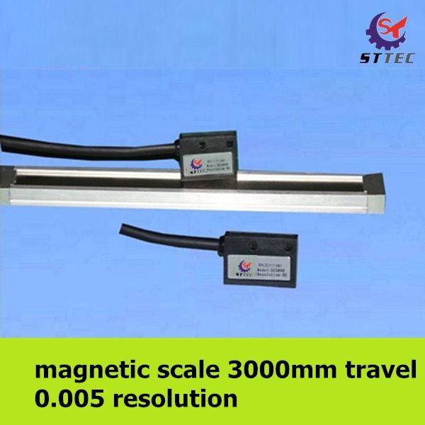 Free shipping high precision 0.005mm 3 meter 3000mm magnetic linear scale / ruler / sensor / encoder