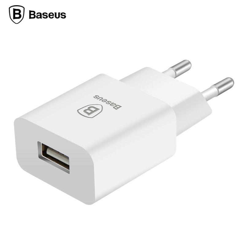 Baseus UE Plug USB Chargeur 5V2A Charge Rapide Adaptateur Portable Voyage mur Mobile Téléphone Chargeur Pour iPhone 7 6 Samsung s7 Tablet