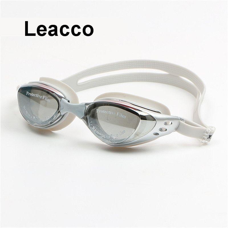Взрослых рецепт оптический близорукость Плавание ming очки Плавание Силиконовые Анти-туман покрытием воды диоптрий Плавание ming очки маска