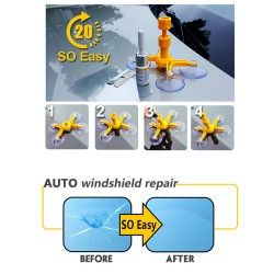 sikeo 4 foots Professional DIY Car Windshield Chip Repair Kit tools Auto Glass Windscreen repair set Car Styling