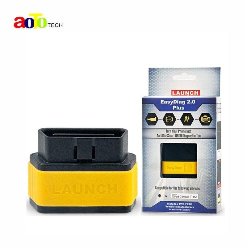 DHL Free Shipping 100% Original Launch EasyDiag 2.0 Plus for IOS and Android +2 Free Car Software Launch Easy Diag Tool