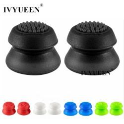 IVYUEEN 2 pcs Silicone Extra High Joystick Extended Analog Thumb Stick Grips for PS4 Pro Slim Controller Cover for Dualshock 4