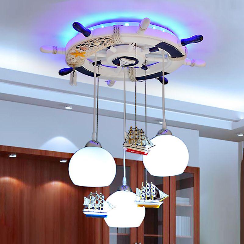cartoon Mediter Led modern lighting chandelier baby room Led chandelier ceiling kids 110- 220V Led chandelier luminarias