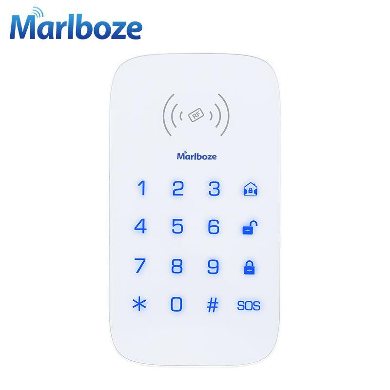 Marlboze Wireless Teclado Táctil para PG103 PG168 WIFI Seguridad Para el Hogar Sistema de Alarma GSM Tarjeta RFID Desarmar Contraseña Del Teclado Inalámbrico