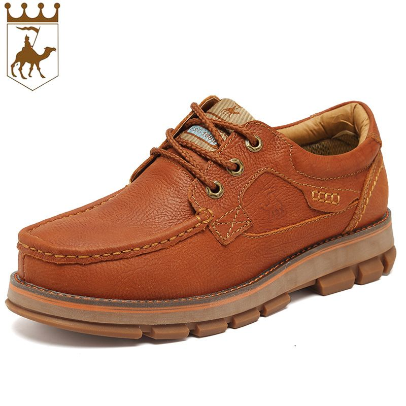BACKCAMEL Genuine Leather Men's Boots Increased Outdoor Shoes Dichotomanthes Thick Installed Men Boots Casual Tooling shoes