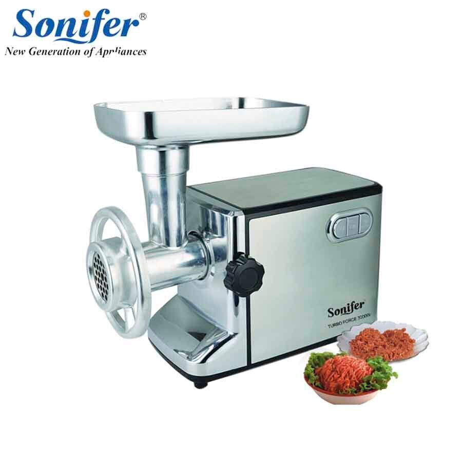 3000W stainless steel Home Electric Meat Grinder Sausage Stuffer Mincer Heavy Duty Household Mincer Sonifer