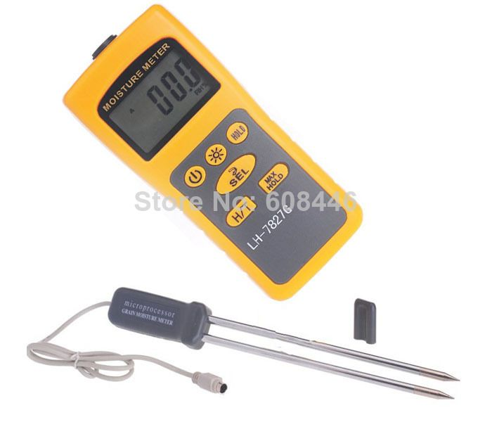 Hot Grain Moisture Meter Rice Corn Wheat moisture tester 2% - 31% thermometer 14-140Fahrenheir 2in1 36 Kinds free shipping