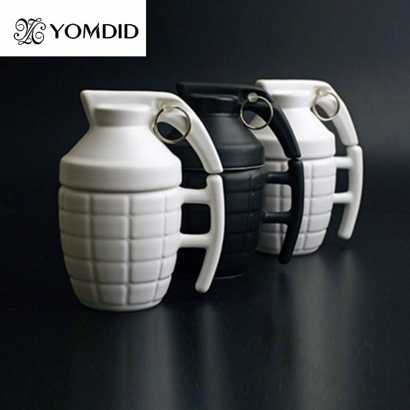 Creative Grenade Coffee Mugs <font><b>Practical</b></font> Water cup with Lid Funny Gifts Granada creativa taza de cafe