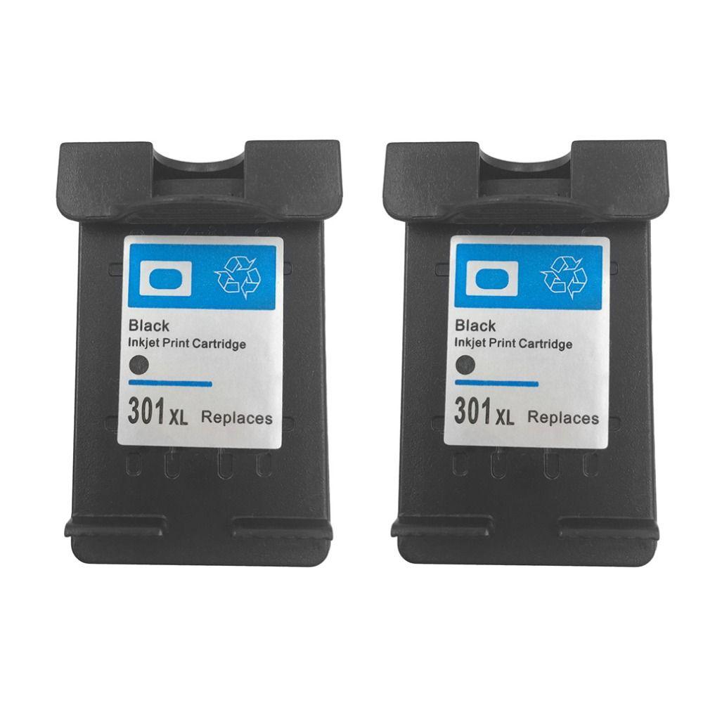 2Pcs Cartridge For HP 301 XL 301XL Black Ink Cartridge for HP 2620 4630 Envy 4500 5530 Deskjet 1000 1050 2000 2050 2510 3000