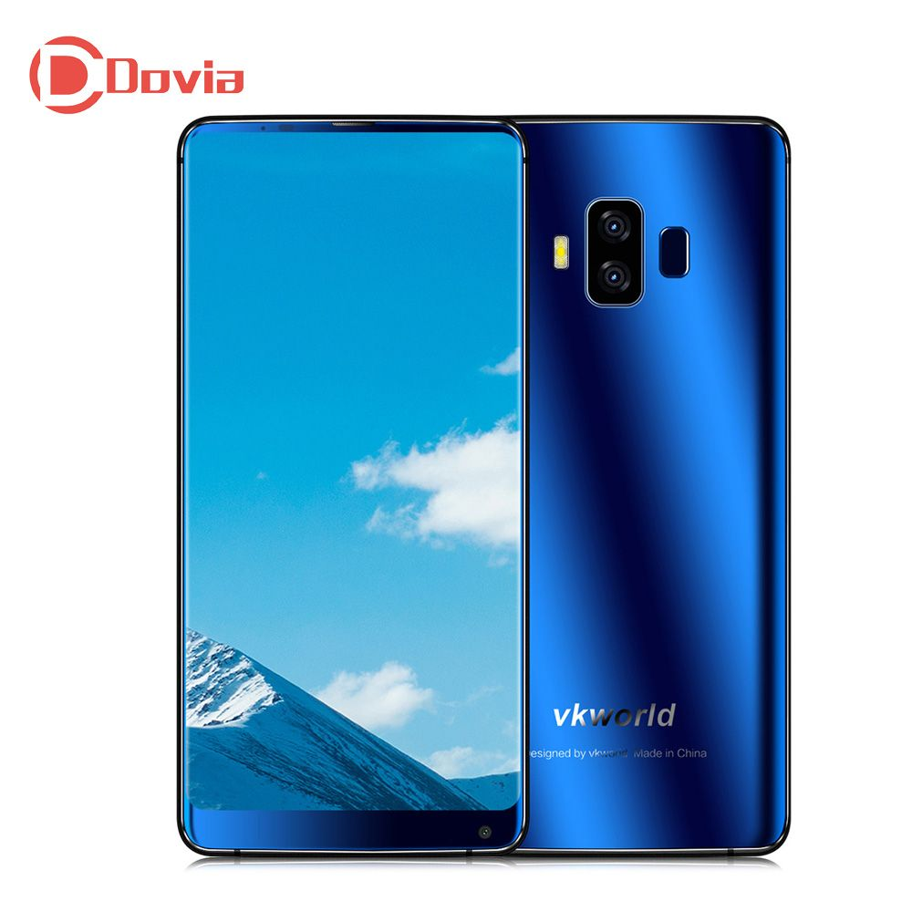VKworld S8 4G Smartphone 5.99 inch Android 7.0 MTK6750T Octa Core 4GB+64GB 5500mAh 16.0MP+5.0MP Dual Rear Cameras Face ID Phone