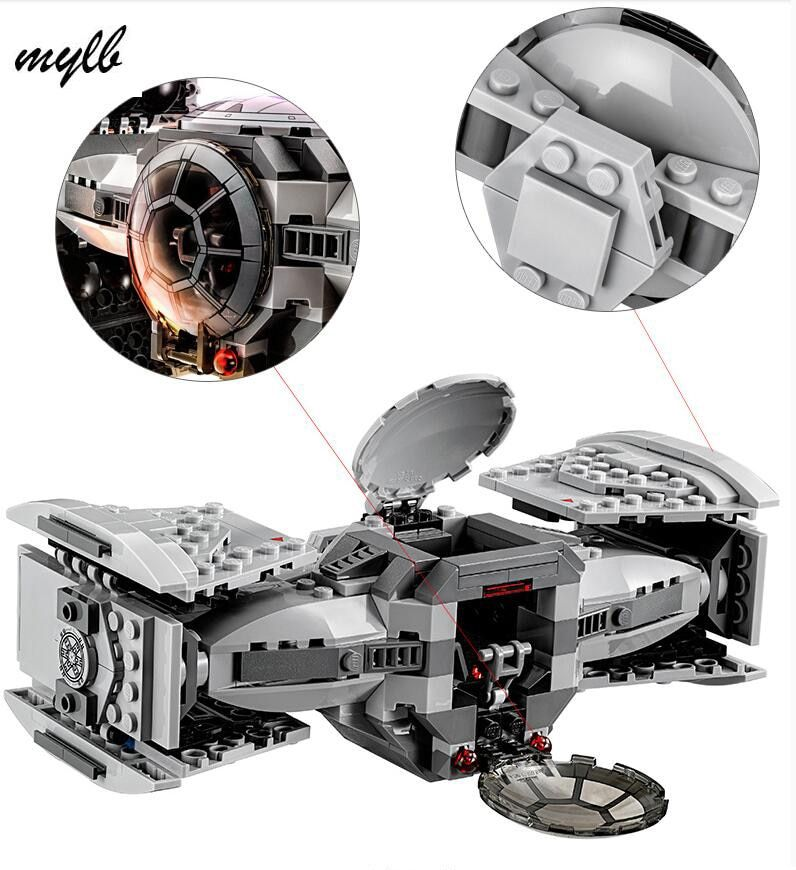 mylb Star wars model building kits compatible with city The Force Awakens TIE Advanced Prototype fighter blocks drop shipping