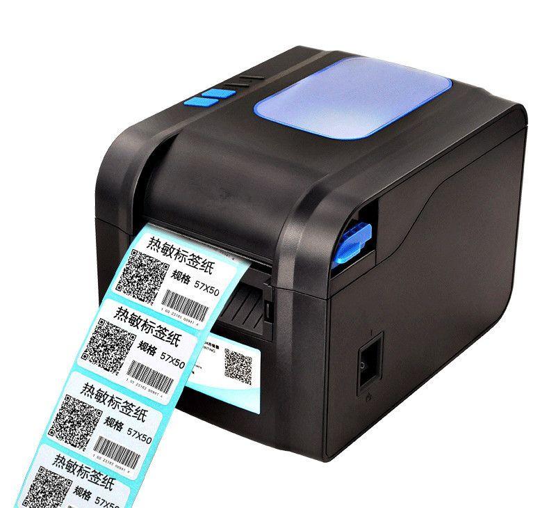 NEUE thermische bar code nicht trocknende etikettendrucker kleidung tags supermarkt preis aufkleber drucker Unterstützung für druck 22-80mm widh