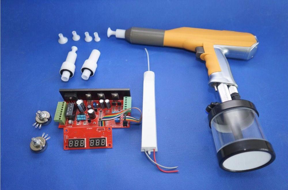 digital manual electrostatic experiment lab 100KV machine powder coating spray gun system for Gema