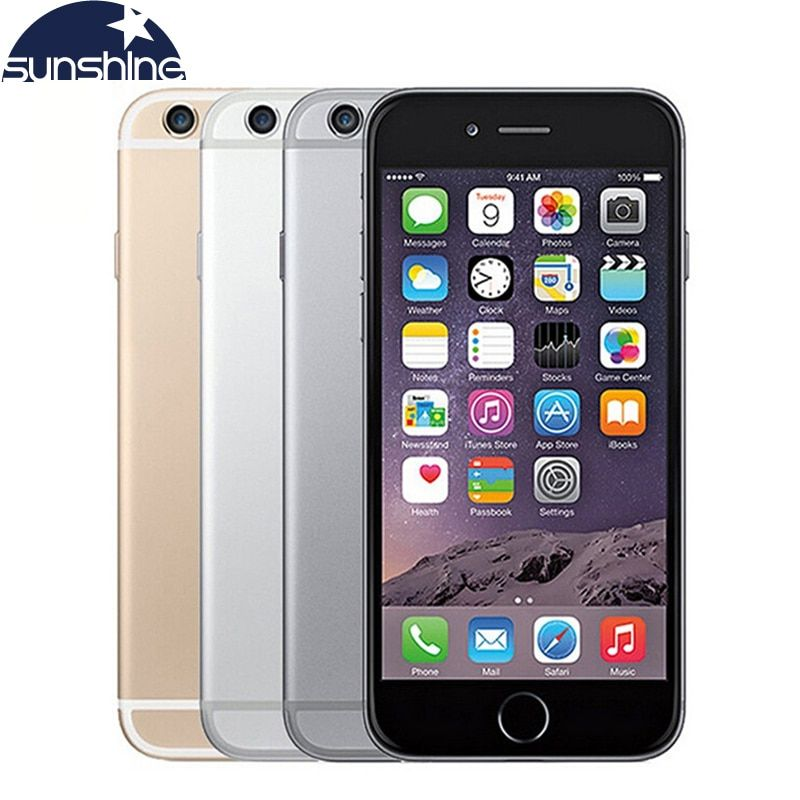 Unlocked Original Apple iPhone 6 LTE Cell phones 1GB RAM 16/64/128GB iOS 4.7' 8.0MP Dual Core WIFI IPS GPS Used Phone