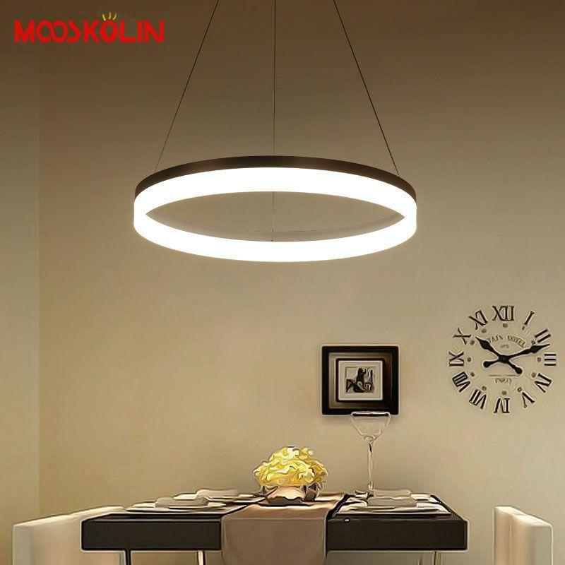 New Modern Pendant Lights Kitchen Living Dinging Room Light Fixtures LED Hanging Lamp Luminaires Dimmable With Control AC90-260V