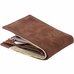 Fashion 2018 Men Wallets Mens Wallet Leather Genuine with Coin Bag Zipper Small Money Purses Design Dollar Slim Wallet Purse