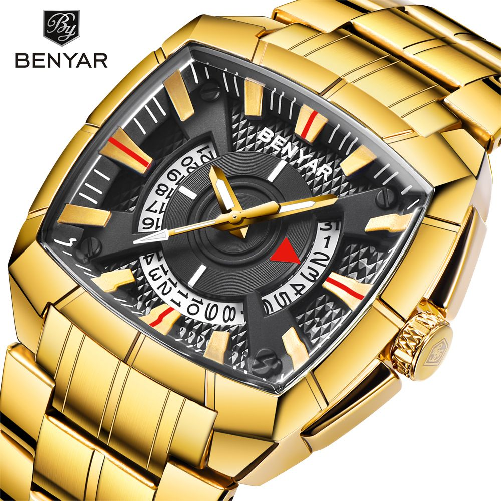2019 BENYAR Quartz Men Watches Reloj Hombre Brand Luxury Sport Military Waterproof Wristwatch Relogio Masculino erkek kol saati