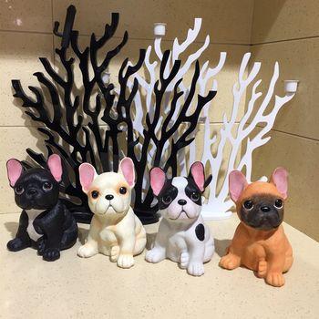 4 цвета творческая личность Французский бульдог имитация милая собака Гостиная кабинет Украшения Семья декоративные Изделия из смолы