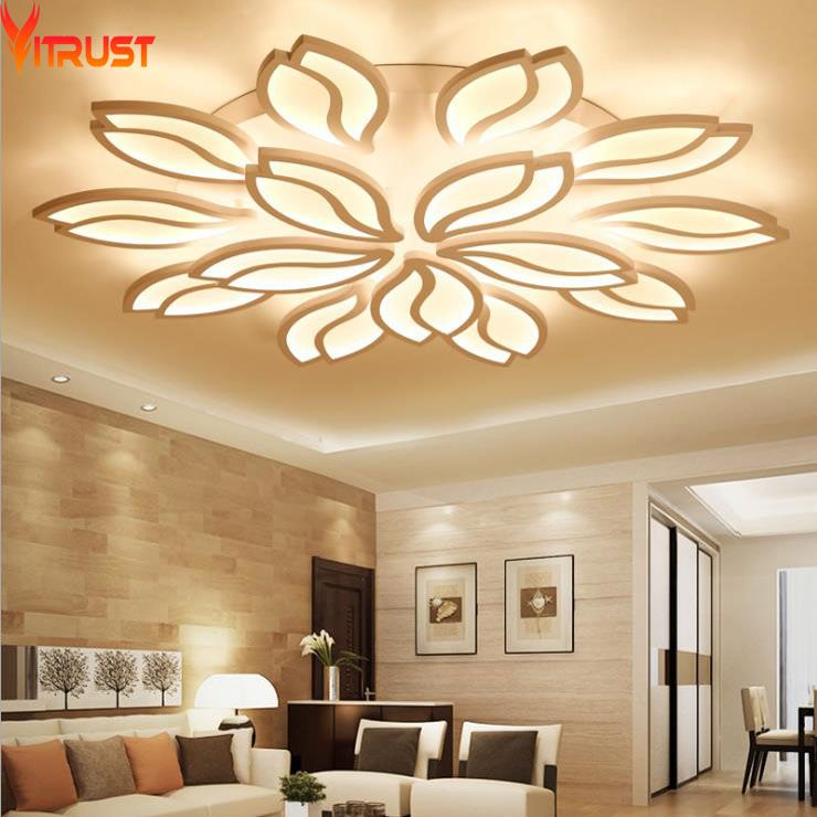 Modern LED Chandeliers Ceiling Fixtures for Foyer Living Dining Room Acrylic Remote controller Home Lighting Indoor Large Lamps