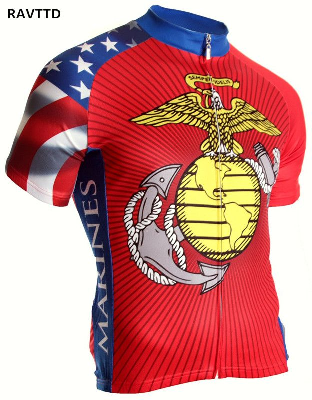 US Marine Corps Cycling Jersey MTB Bike Bicycle Breathable Malciko Cycling Clothing Ropa Ciclismo For Summer <font><b>Bicicleta</b></font> Maillot