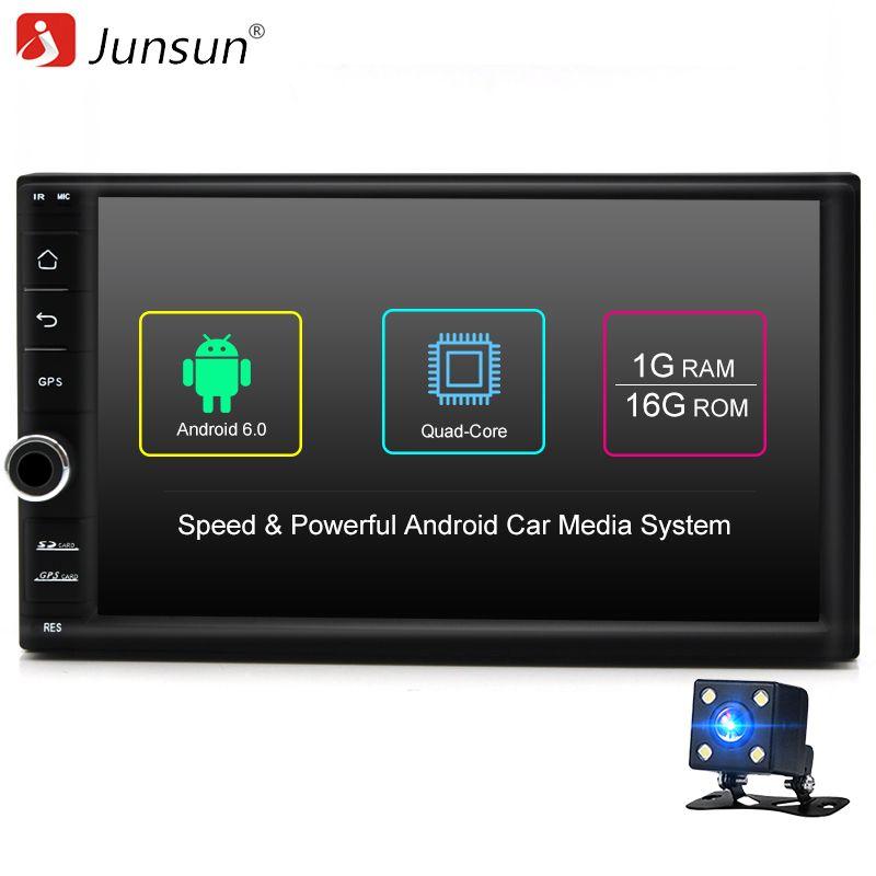 Junsun Quad Core 7 2 Din Android 6.0 Car DVD Radio Multimedia Player 1024*600 Universal GPS Navigation autoradio Stereo Audio