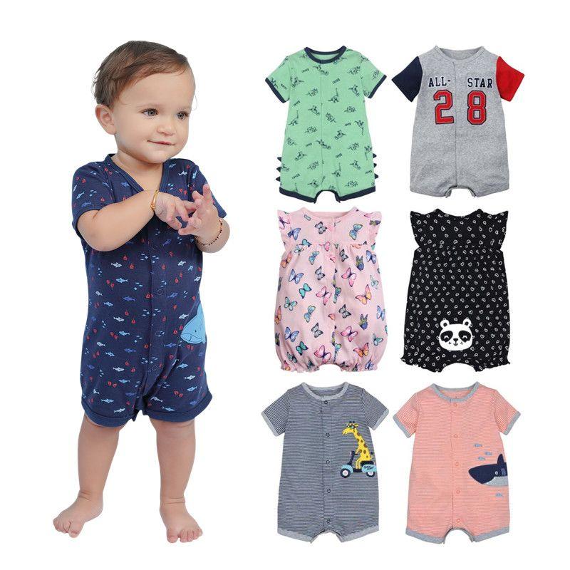 2019 magasin officiel été garçons bébé vêtements à manches courtes combinaison nouveau-né barboteuse bébé garçon vêtements infantile roupas bébé barboteuses