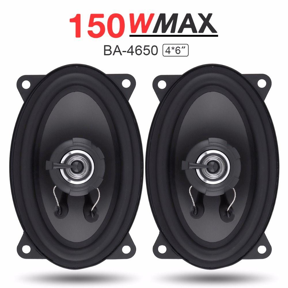 2pcs 4X 6 Inch 2 Way 150W Car Speaker Automobile Car HiFi Audio Full Range Frequency Coaxial Speaker Auto High Pitch Loudspeaker