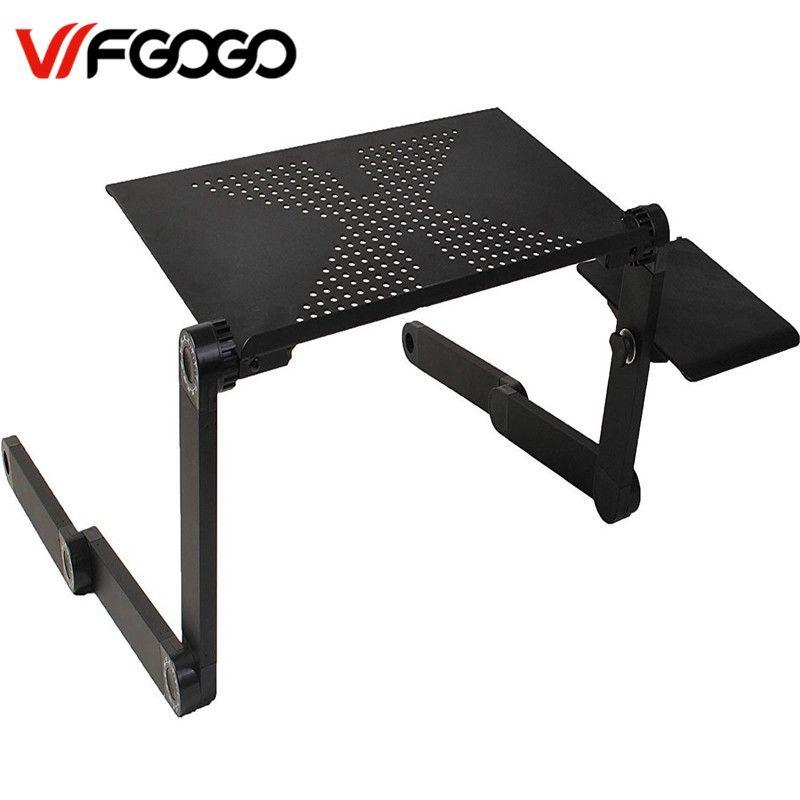 Wfgogo Компьютерные столы Портативный Регулируемая Складная ноутбука Тетрадь Lap pc складной стол вентилируемый стоять кровать лоток