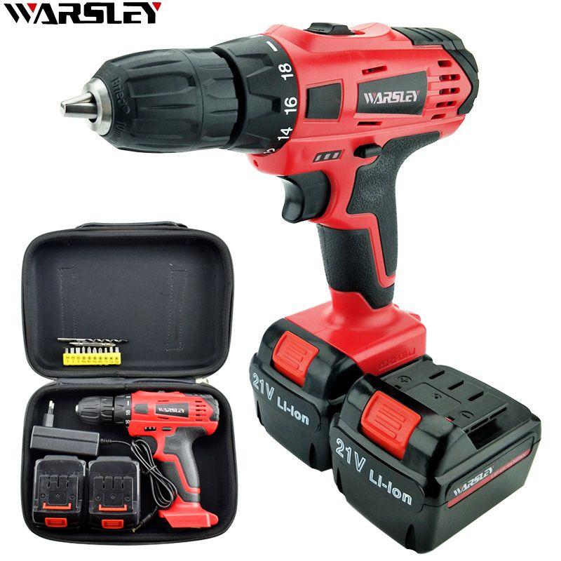 21V Cordless <font><b>Rechargeable</b></font> Screwdriver Li ion Torque Drill Mini Electric Screwdriver Home Waterproof Power Tools Eu Plug