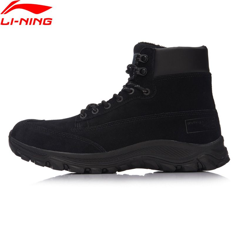 Li-Ning Men LN Siker Classic Walking Shoes Warm Winter LiNing Sport Shoes Comfortable Sneakers AGLM159 YXB108