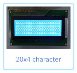 Free shipping 2pcs Russian / cyrillic font Language 20x4 204 2004A lcd display module blue professional lcd module factory