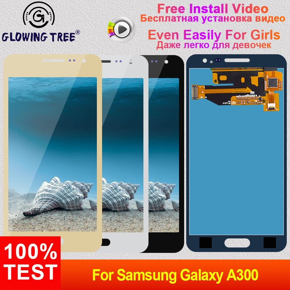 A3 2015 LCD For Samsung Galaxy A3 A300 2015 SM-A300F LCD A300H A300X A300FN A300FU Touch Screen + LCD Display Assembly