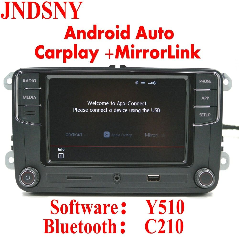Jndsny Android Auto CarPlay приложение r340g rcd330 rcd330g плюс 6.5