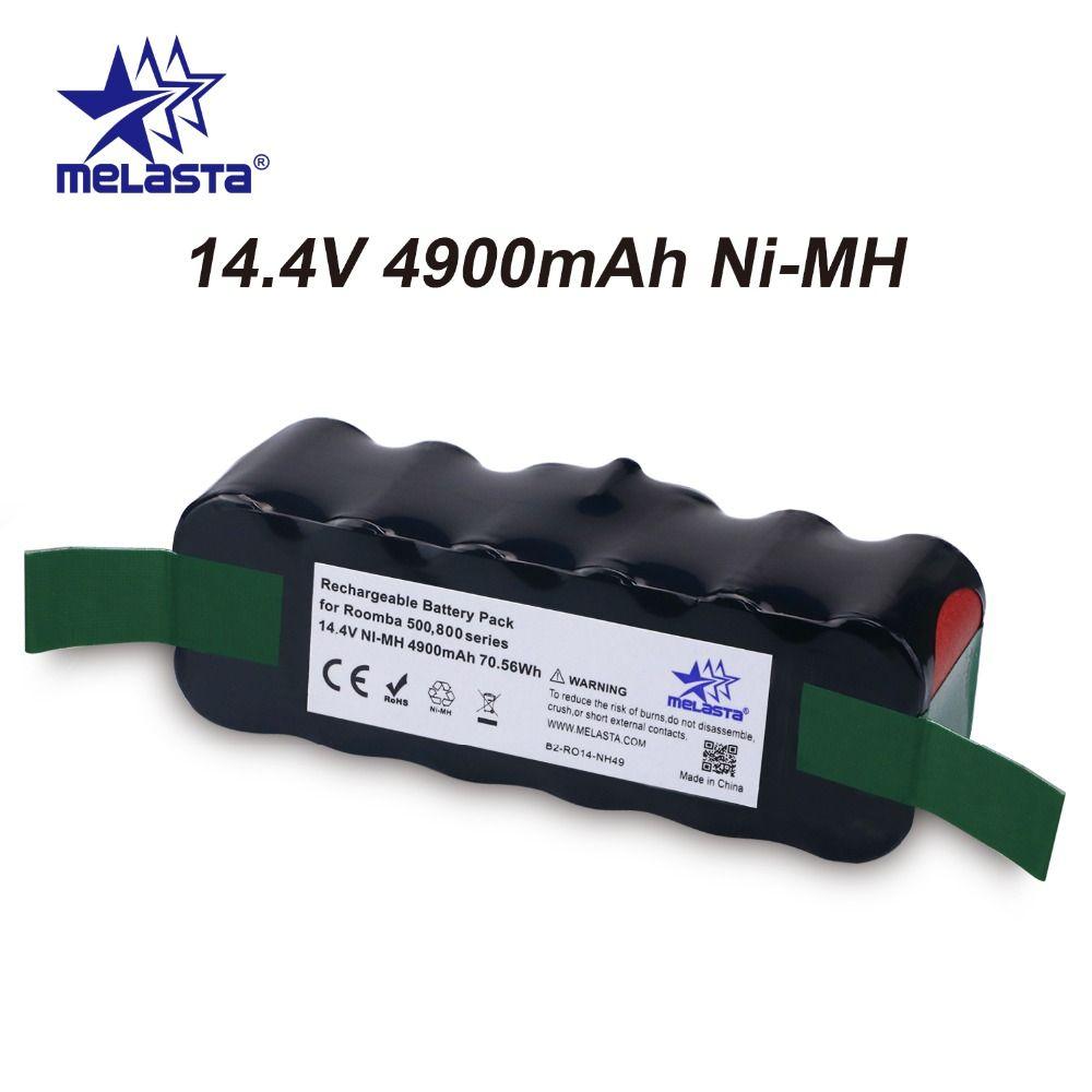 Updated Capacity 4.9Ah 14.4V NIMH battery for iRobot Roomba 500 600 700 800 Series 510 530 550 560 620 650 770 780 870 880 R3