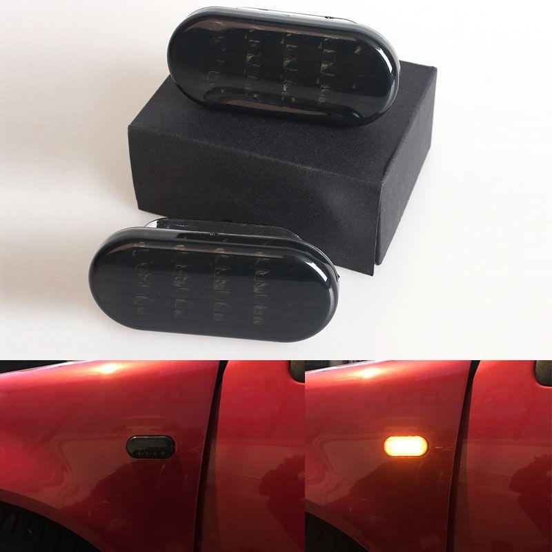 1 para Auto Seite Marker Licht LED Blinker Lampe mit Schwarz Objektiv Blinker Für VW Jetta Golf 4 GOLF4 mk4 Passat B5 B5.5 1999-2004