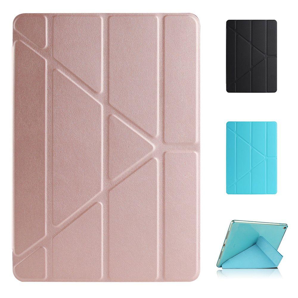 TPU Multi Fold Deformation Leather Plastic Protective Flip Case for iPad Air 2 Pro 9.7 iPad 2017